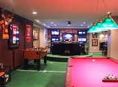 Pool Themed Man Cave