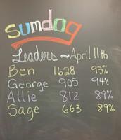 Sumdog Leaders April 11th