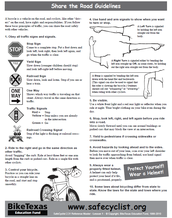 Share the Road Guidelines