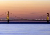 "The Mackinac Bridge - also known as ""Mighty Mac"", or ""Big Mac"""
