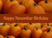 Happy November Birthdays!