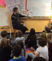 """Thank You Mr. Ryan for reading """"The Day the Crayons Came Home"""" to Team 105!"""