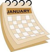 January Calendar Feedback