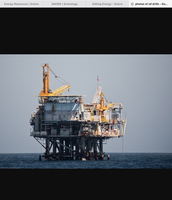Oil rig at sea