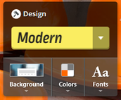 Second..choose your background, color and font from the many choices Smore offers!