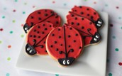 Lady Bug Themed Cookies