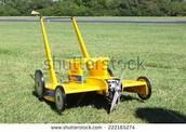Yellow mower