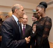 טיטי נפגשת עם הנשיא אובמה