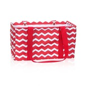 Medium Utility Tote - Red Chevron
