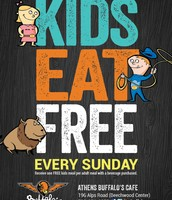 Kids Eat Free Every Sunday