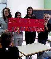 "Students prepared the ""logo"" banner"