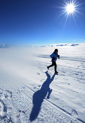 Running on the Union Glacier
