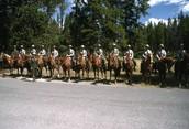 Rangers on horse back