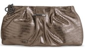 LaCoco Clutch-Pewter Metallic/Leather