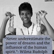 Yay for Wilma Rudolph!