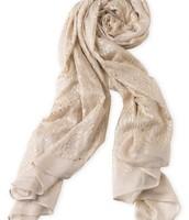 Metallic Trellis scarf $29
