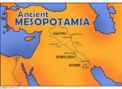 The map of mesopotamia
