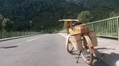 Fajn Bicikl is first wooden electric bike.