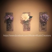 Mason Jar Wall Vase (flowers not included)