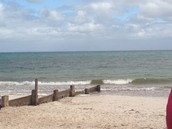 Groynes on McCrae beach