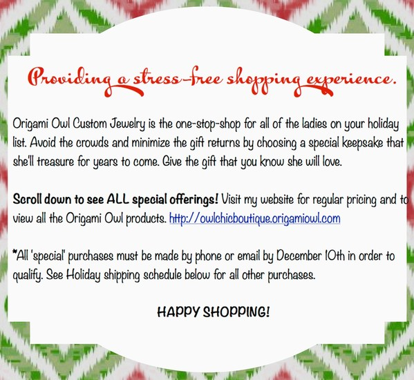 Origami Owl Holiday Specials Smore Newsletters