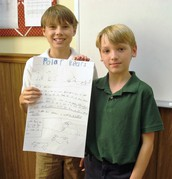 Weston and Tristan present theirs