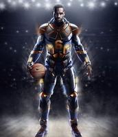 Super hero LeBron James