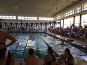 NBH Boys/Girls Swim Teams taking first place this weekend at GCSC