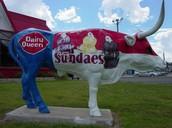 Dairy Queen Cow Statue