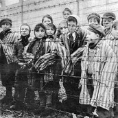 Jewish children in a concentration camp