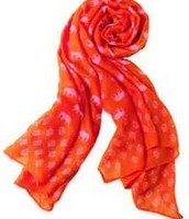 Union Square Scarf- Hot pink/Poppy Elephant