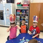 Crowned and bejeweled Kindergarteners