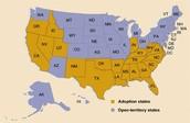 Adoption States vs. Open States