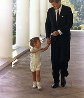 JFK and his son