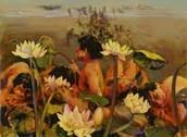 Odysseus' men eating of the flower