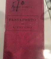 "Giuseppe's ""passaporto"" (passport)"