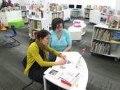 Teachers Collaborate in Learning Commons