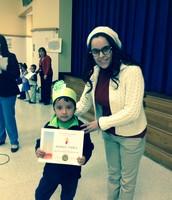 Kindergarten student- Andres Yanez with Ms. Torres