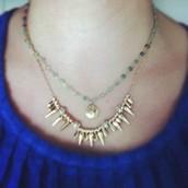 La Folie Necklace in green