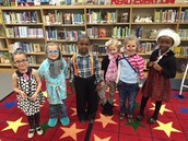 Kindergarten students on the 100th day of school!