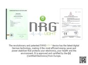NRG Light is Patented and Certified !