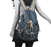 Vintage Denim Backpacks