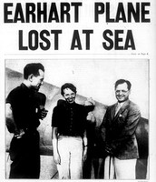 Earhart plane lost at sea