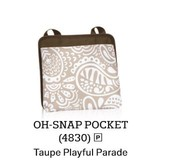 Oh Snap Pocket in Taupe Playful Parade