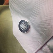 Signature engraved cufflinks