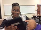 Morgan loves selfies!