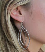 Bardot Hoop Earrings Silver
