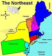 Northeast States, Capitals, and Abbreviations