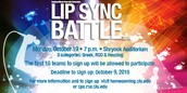 SIGN UP NOW FOR LIP SYNC BATTLE!