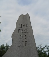 the new Hampshire state motto is live free or die.